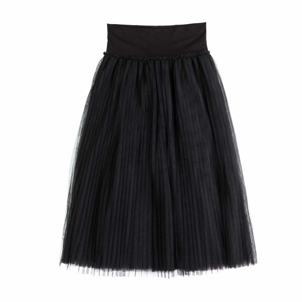 Monnalisa - BLACK TULLE SKIRT FOR GIRL