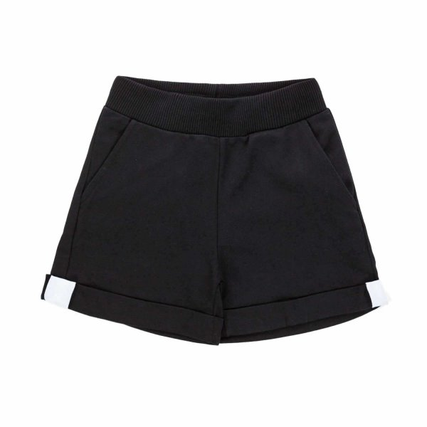 Monnalisa - GIRL BLACK COTTON SHORTS