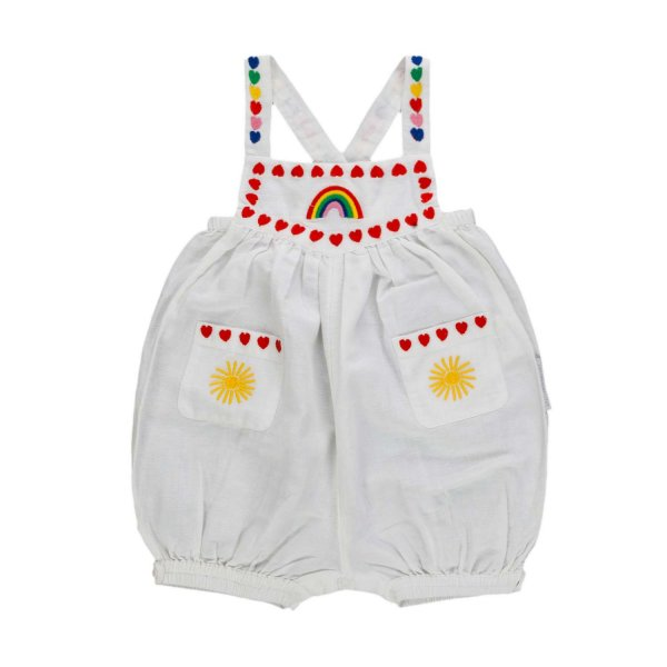 Stella Mccartney - LINEN ROMPER FOR BABY GIRL