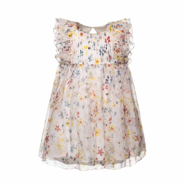 Stella Mccartney - SILK DRESS FOR BABY GIRL
