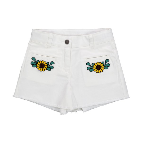 Stella Mccartney - GIRL WHITE DENIM SHORTS