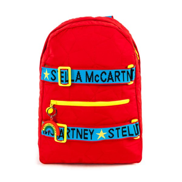 Stella Mccartney - LOGO RED BACKPACK FOR GIRL