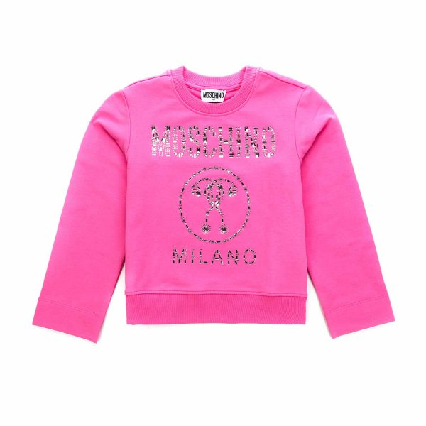 Moschino - LOGO PINK SWEATSHIRT FOR GIRLS