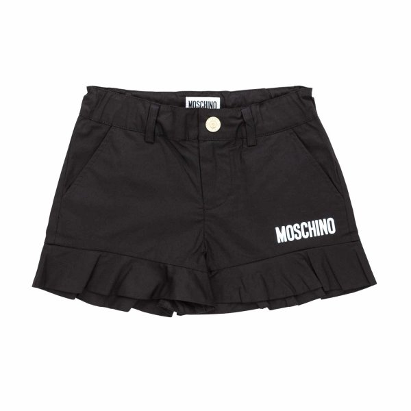 Moschino - BLACK LOGO SHORTS FOR GIRLS