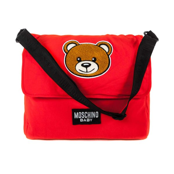 Moschino - TEDDY BEAR AND LOGO MOMMY BAG
