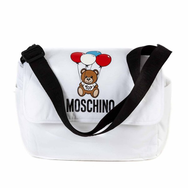 Moschino - WHITE MOMMY BAG WITH TEDDY BEAR