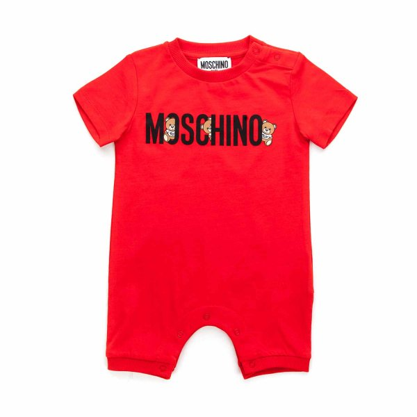 Moschino - TEDDY BEAR RED ROMPER FOR BABY