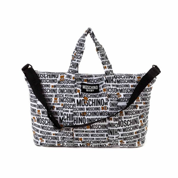 Moschino - MOMMY BAG WITH ALL-OVER LOGO PRINT