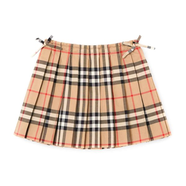 Burberry - BABY GIRL CHECK PLEATED SKIRT