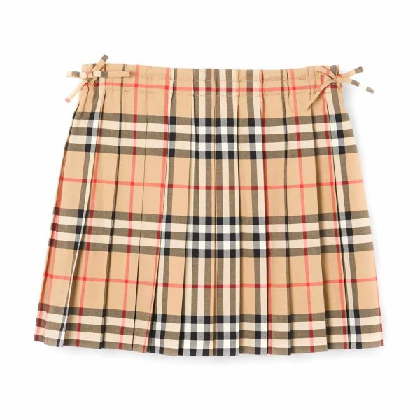 Burberry - PLEATED CHECK SKIRT FOR GIRLS