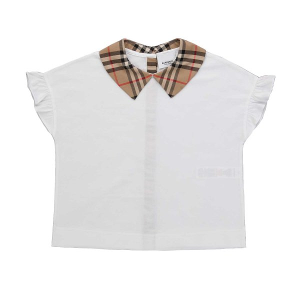 Burberry - CHECK T-SHIRT FOR GIRLS