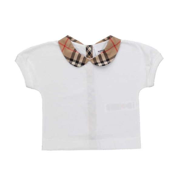 Burberry - CHECK T-SHIRT FOR BABY GIRL