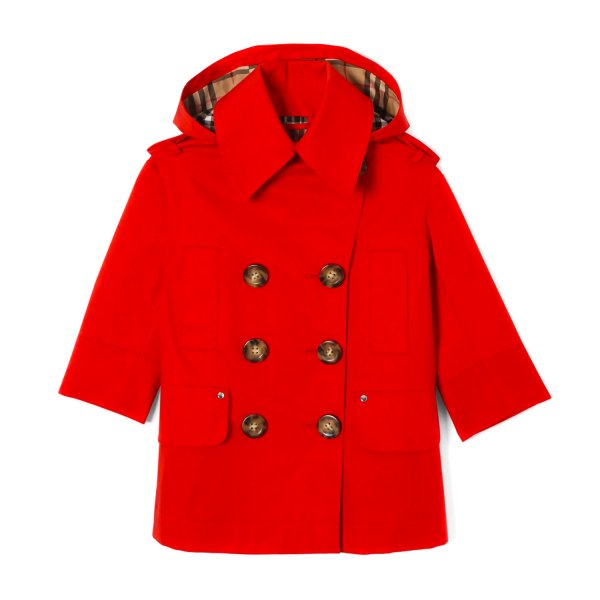 Burberry - RED TRENCH COAT FOR GIRLS