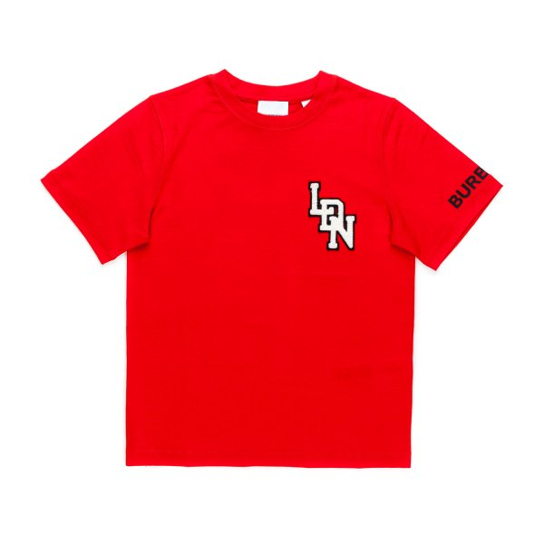 Burberry - RED LOGO PRINT T-SHIRT FOR BOY