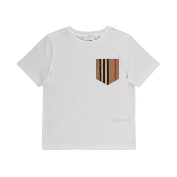Burberry - WHITE T-SHIRT FOR BOY AND TEEN
