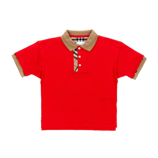 Burberry - RED CHECK POLO SHIRT FOR BOY