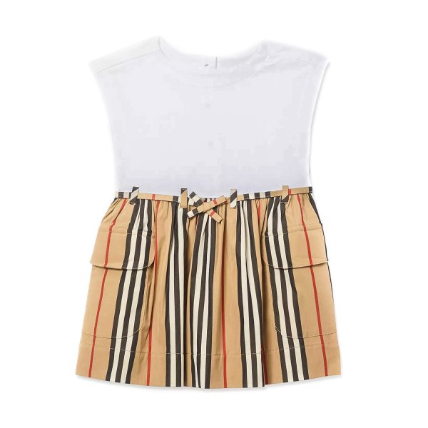 Burberry - BABY GIRL PURE COTTON DRESS