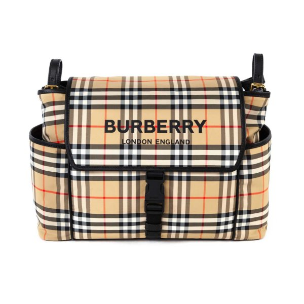 Burberry - CHECK MOMMY BAG WITH LOGO