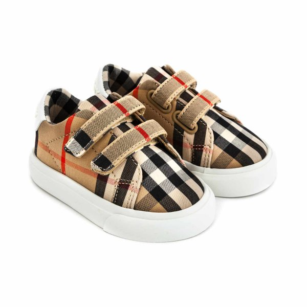 Burberry - BABY SNEAKERS CHECK UNISEX