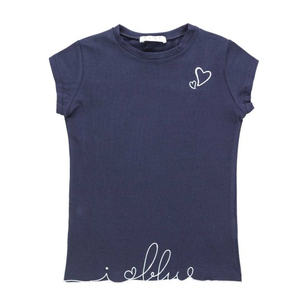 Elsy - LITTLE GIRL BLUE COTTON T-SHIRT