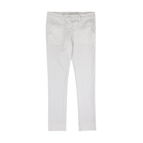 Elsy - WHITE COTTON TROUSERS FOR GIRLS