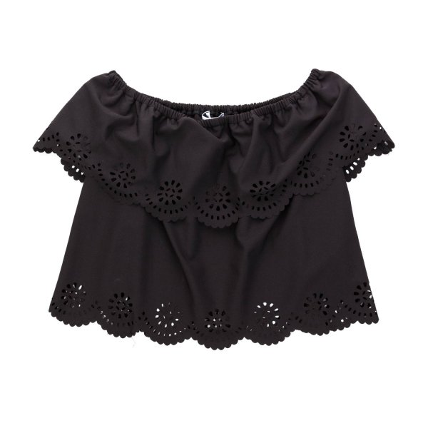 Elsy - FLOUNCE BLACK TOP FOR GIRL