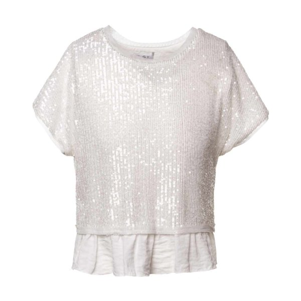 Elsy - T-SHIRT PAILLETTES BAMBINA TEENAGER