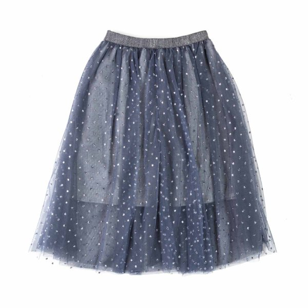 Elsy - BLUE TULLE SKIRT FOR GIRL