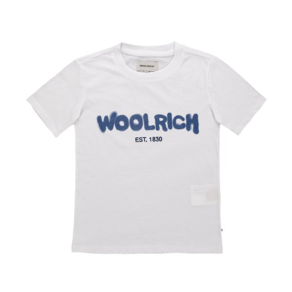 Woolrich - WHITE T-SHIRT FOR TEEN AND BOY