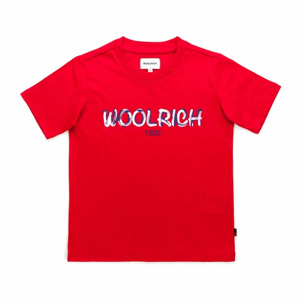 Woolrich - LOGO RED T-SHIRT FOR BOYS