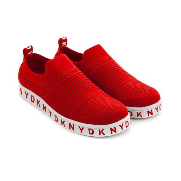 Dkny - RED SLIP ON SNEAKERS FOR BOYS
