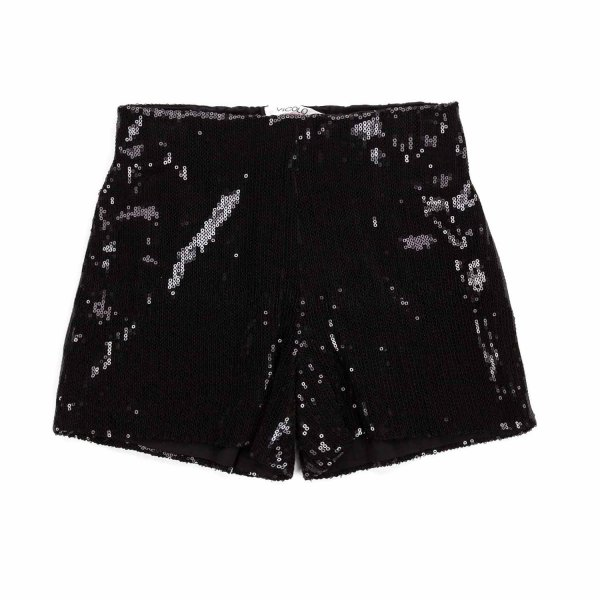Vicolo - GIRL BLACK SEQUIN SHORTS