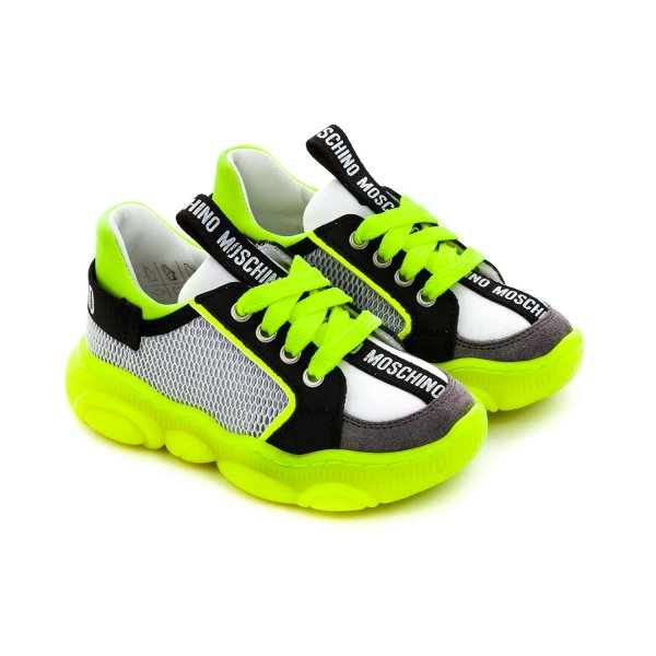 Moschino - FLUO SNEAKERS FOR LITTLE BOYS