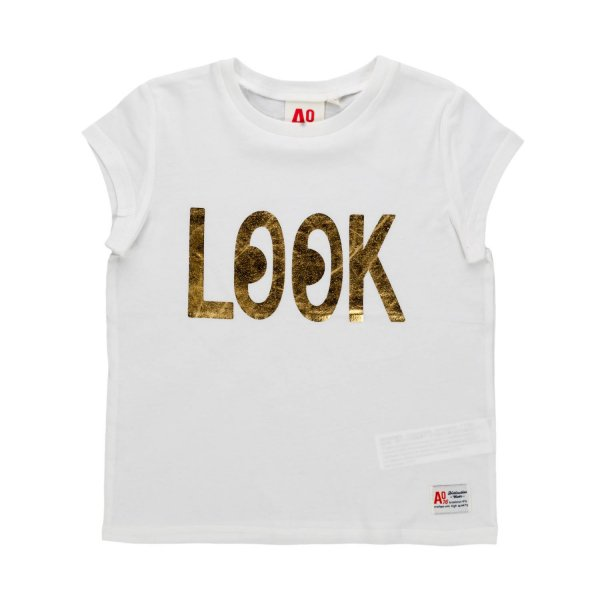 American Outfitters - Lettering gold stamp t-shirt