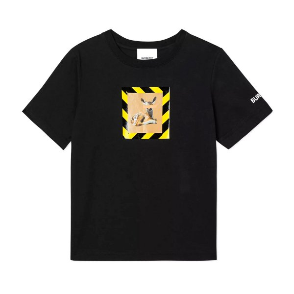 Burberry - PRINTED BLACK T-SHIRT FOR BOY