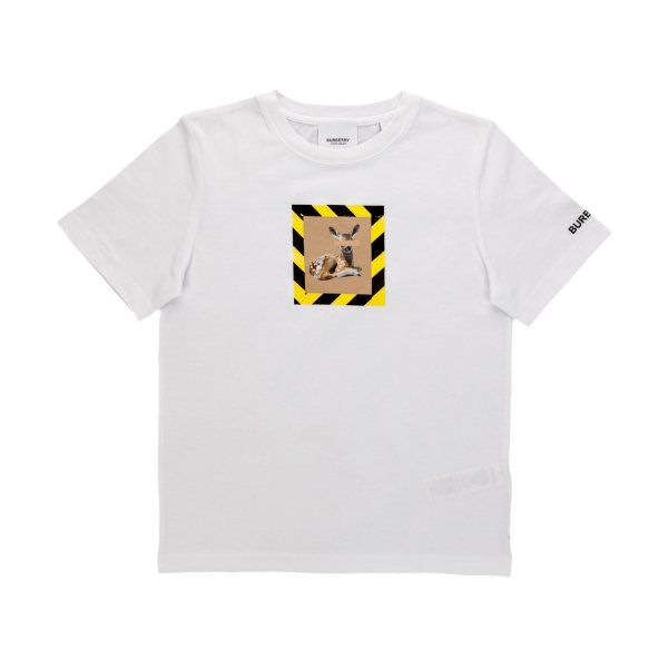 Burberry - UNISEX WHITE T-SHIRT WITH PRINT