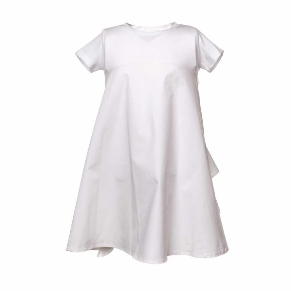 Douuod - WHITE DRESS WITH BOW FOR GIRL