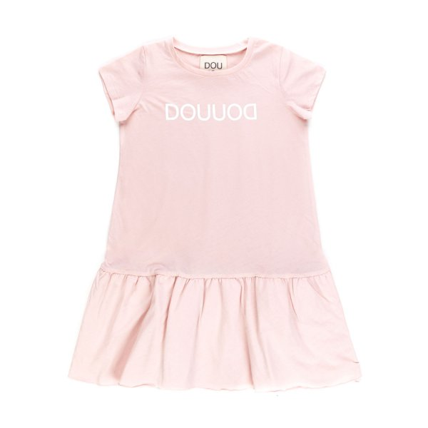 Douuod - PINK COTTON DRESS FOR GIRL