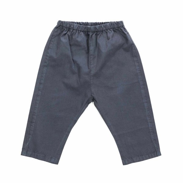 Douuod - BABY BOY GREY COTTON TROUSERS