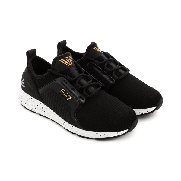 Armani Junior - UNISEX LOGO BLACK SNEAKERS