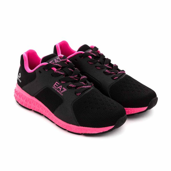 Armani Junior - BLACK SNEAKERS FOR GIRLS