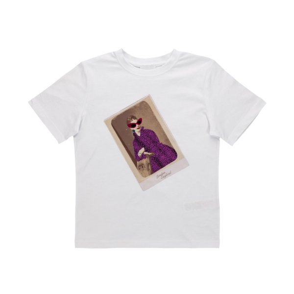 Burberry - GIRL PRINTED WHITE T-SHIRT