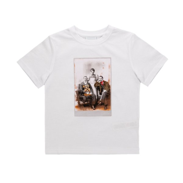 Burberry - UNISEX PRINT WHITE T-SHIRT