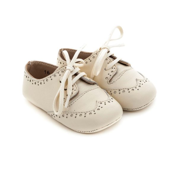La Stupenderia - BEIGE SHOES FOR BABY BOYS