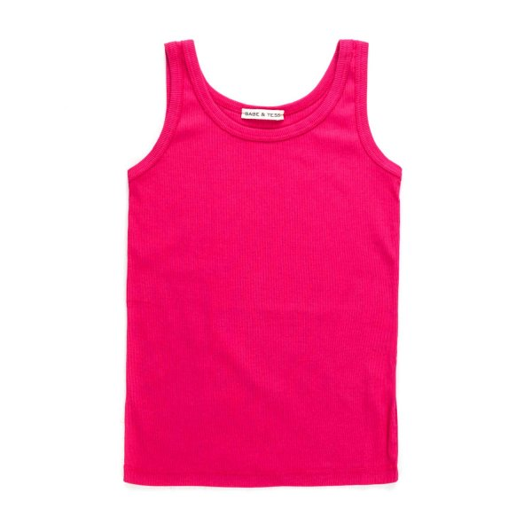 Babe & Tess - COTTON FUCHSIA TOP FOR GIRL