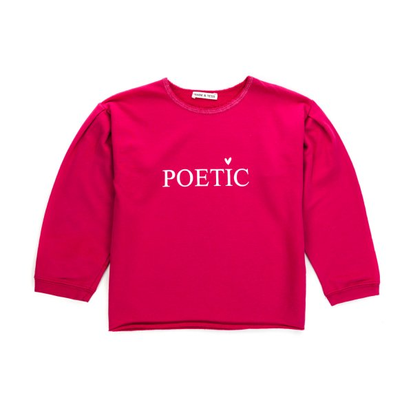 Babe & Tess - GIRL FUCHSIA COTTON SWEATSHIRT