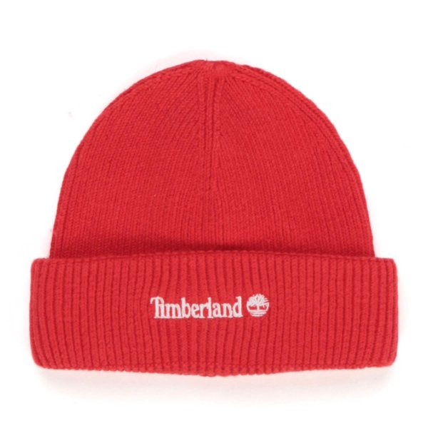 Timberland - LOGO RED BEANIE FOR BABY