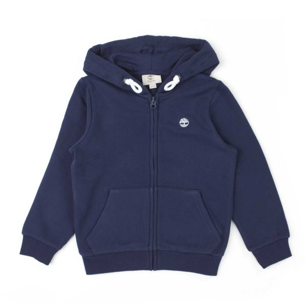 Timberland - TEEN AND BOY BLUE ZIP UP HOODIE