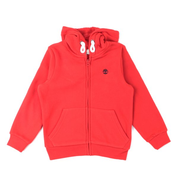 Timberland - BOY RED ZIP UP HOODIE