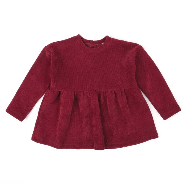 Piccolaludo - RED COTTON BLOUSE FOR GIRL